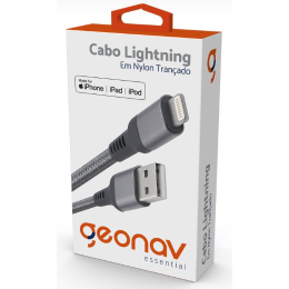 Cabo Para Celular iPhone, iPad e iPod - Lightning Essential Dourado - Geonav